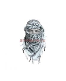 Арафатка, черно-белая, 110х110 см