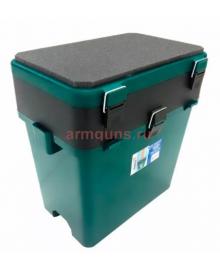 Ящик рыболовный пластиковый односекционный (В370*Ш370*Г230) (зеленый/синий)