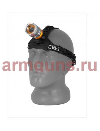 Налобный, светодиодный, аккумуляторный фонарь, арт. T615