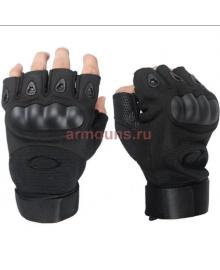 Тактические Перчатки OKL беспалые, черные (Black)