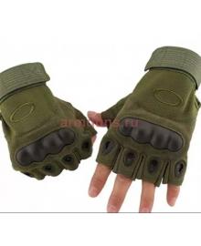 Тактические Перчатки OKL беспалые, зеленые (Olive)