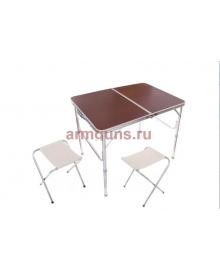 Складной туристический стол для пикника + 2 стула