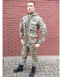КОСТЮМ ГОРКА-8 НА  ФЛИСЕ, БЕЛЫЙ ПИКСЕЛЬ