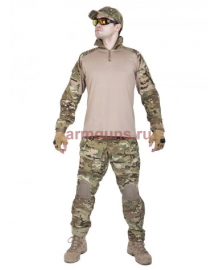 Костюм камуфляжный тактический летний G3 с защитой локтей и коленей,  цвет Мультикам (Multicam)