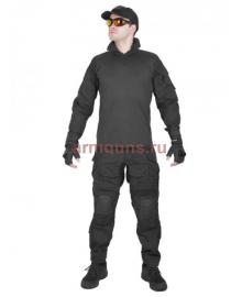 Костюм камуфляжный тактический летний G3 с защитой локтей и коленей,  цвет Черный (Black)