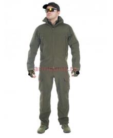 Тактический костюм мужской софтшелл (Softshell) GONGTEX GUNFIGHTER, до -10С, цвет Олива (Olive)