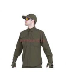Легкая тактическая мужская рубашка GONGTEX TRAVELLER SHIRT, полиэстер-эластан, цвет Олива