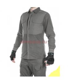 Рубашка флисовая мужская утепленная GONGTEX Superfine Fleece Shirt, цвет Серый (Gray)