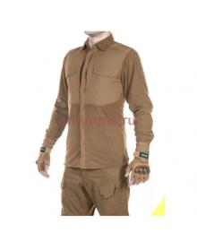 Рубашка флисовая мужская утепленная GONGTEX Superfine Fleece Shirt, цвет Койот (Coyote)