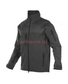 Куртка мужская тактическая софтшелл (Softshell) GONGTEX ALPHA SOFT JACKET, цвет Черный (Black)